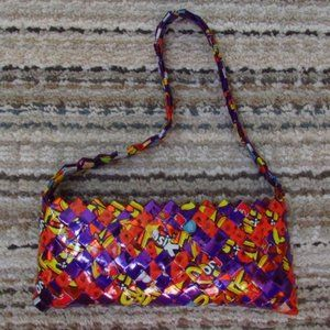 UpCycled Funky Candy Wrapper Bag Purse Handmade